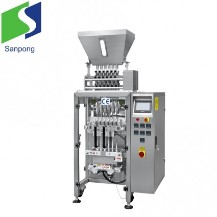 Multi-lanes automatic pouch packing machine