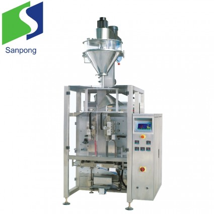 Vertical flat bottom powder packing machine