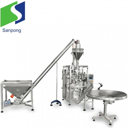 Vertical packaging machine for nut