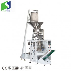 Vertical packaging machine for rice