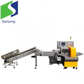 Automatic servo pillow type fruits pouch packaging machine