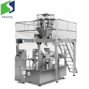 Automatic premade bag packaging machine for chocolate/biscuit