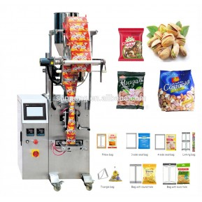 Snack food pouch packing machine