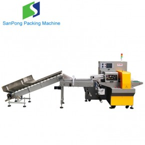 SP-450X high speed and quality Pillow packing machine for packaging Rice /cake