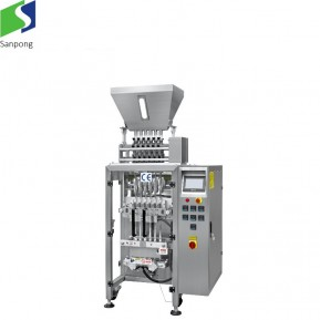 Automatic pouch bag packing machine for snacks