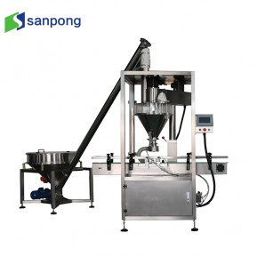 Multi function cafe granule & powder Filling Capping Labeling Machine for Glass Jar